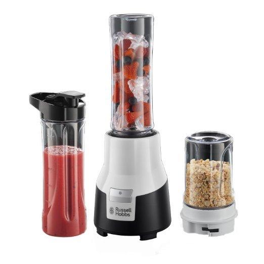 [Amazon.de-Prime] Russell Hobbs 22340-56 Aura Mix und Go Pro Mix / Smoothie Maker (0,4 PS Power-Motor, 300 Watt, bis zu 19.500 U/min), inklusive zwei BPA-freie Trinkflaschen und Gewürzmühle
