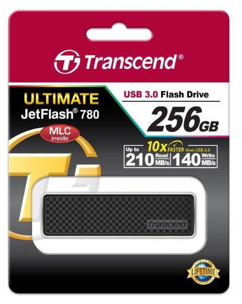 Transcend TS256GJF780 Extreme-Speed JetFlash USB-Stick (256GB, USB 3.0, 210 MB/s lesen, 140 MB/s schreiben) schwarz für 89,88 € @ Amazon UK (Update: Jetzt 88,69 €) (Update 2: Jetzt 95,41 €)