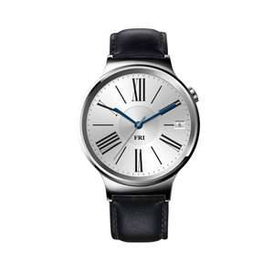 Huawei Watch Classic mit Lederband in silber bei Amazon