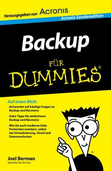(pdf) Backup für Dummies