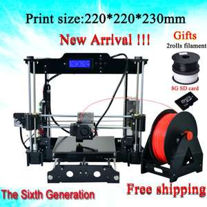 [Aliexpress/China] 3D-Drucker Bausatz Reprap Prusa i3 Design mit 2kg Filament