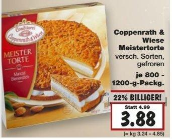 Kaufland Coppenrath & Wiese Meistertorte verschiedene Sorten 3,88€
