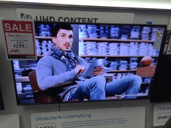 [Lokal Saturn Lünen] Samsung 55 JU 7090 UHD Smart TV Wlan + Samsung S5 Neo bis 19.12.2015