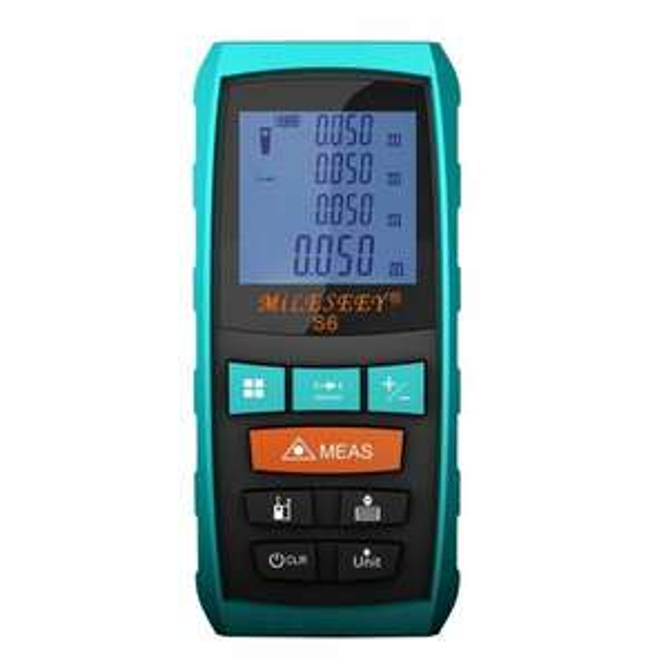 40M/131FT Laser Entfernungsmesser Wasserdichtes, Staubgeschütztes und Stoßresistentes Lasermessgerät mit ausfahrbarem Lineal(S6 40M Blau)