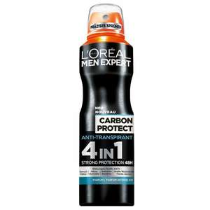 L'Oreal Men Expert Deo Spray Carbon Protect 4 in 1, 6er Pack (6 x 150 ml) 7,89€