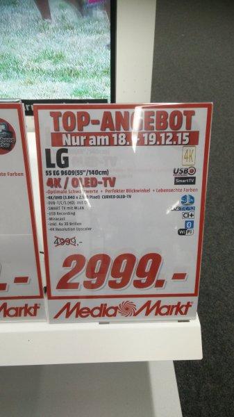[Lokal MM Mainz] LG 55 EG 9609 OLED 4K für 2999€