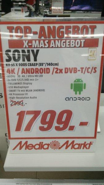 [Lokal MM Mainz] Sony KD 55 X 9005 C für 1799€. Vergleich: Amazon ab 2239€.