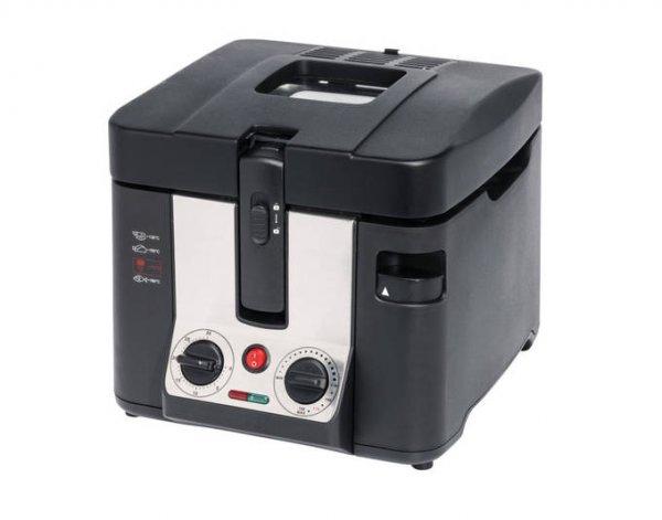 [Medion] MEDION® Fritteuse MD 15630, 2800 Watt, Öltank ca. 2,2 Liter, Temperaturkontrolle 130-190°C, Edelstahlfrittierkorb