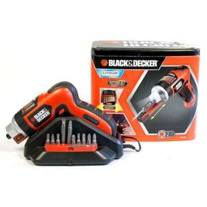 Black & Decker AS36LN Akkuschrauber 3,6V Autoselect Schraubenhalter Metallbox 29,99€