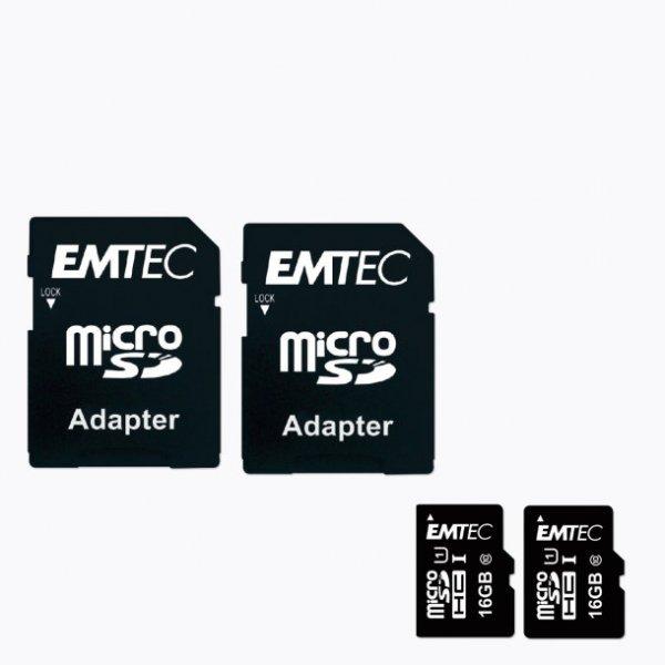 ALDI Nord: 2 x MicroSDHC-Karte 16 GB Emtec Class 10, UHS-I