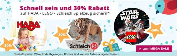 [windeln.de] Weihnachts-Sale -30% auf Lego, Duplo, Haba und Schleich uvm.