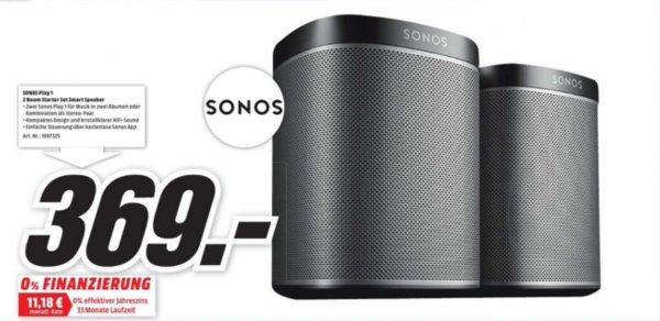 [Lokal Hannover] Sonos Play:1 Doppelpack im Mediamarkt für 369€