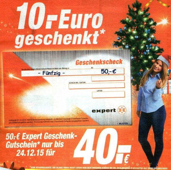 50 € Expert Geschenkgutschein für 40 € [Expert Technikmarkt Flensburg - u. a.?]