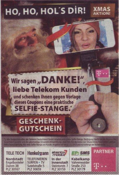 [lokal Hannover] kostenlose Selfie Stange für Telekom Kunden