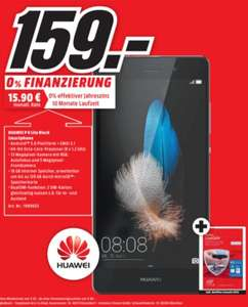 (lokal) HUAWEI P8 lite, 16 GB, 5 Zoll für 159€ @ Mediamarkt Porta Westfalica