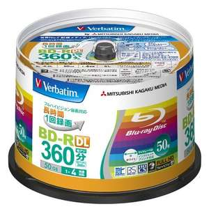 Verbatim Blu-ray Disc 50er Spindle - 50GB 4X BD-R DL - 98,62€ Versand Amazon.de