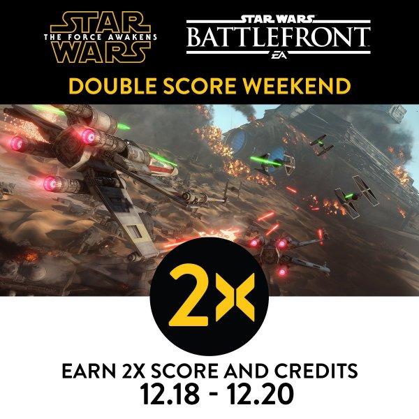Star Wars Battlefront Double XP Wochenende