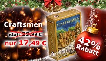 """Gesellschaftsspiel """"Craftsmen"""" im Adventskalender bei spiele-offensive.de"""