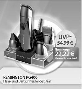 Dienstag - Remington PG400 Bartschneider-Set 7in1 für nur 22,22€ ink. Versand als OHA - Angebot bei MeinPaket (Preisvergleich: 30€)