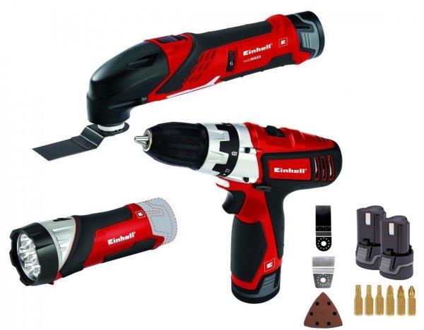 ebay Einhell Werkzeug Set RT-TK 12 Li Kit Akkuschrauber Multitool Lampe Akku Zubehör 59,99€