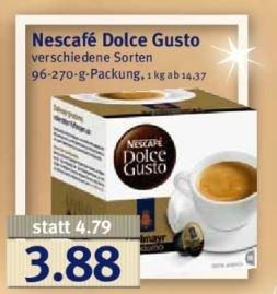 [Combi bundesweit] Nescafe Dolce Gusto Kapseln 3,88€ verschiedene Sorten