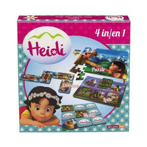 [Amazon Prime - Plus Produkt] Heidi 4-in-1 Spielebox