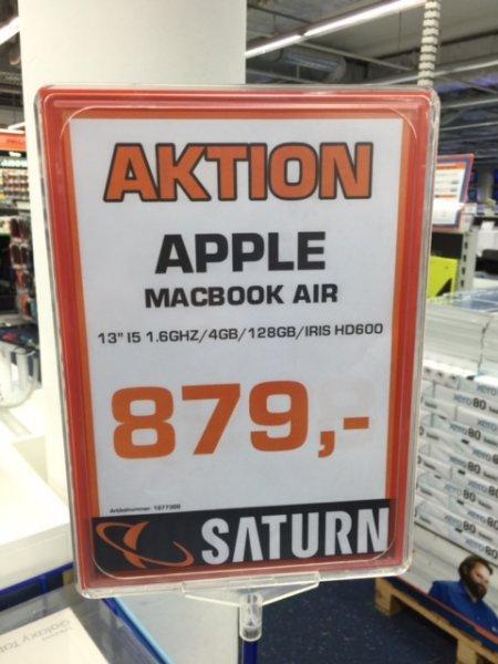Apple MacBook Air MacBook Air 13.3 Zoll für 879,00 bei Saturn Esslingen