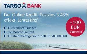 GMX Best Price - Kredit bei der Targo Bank - 100 Euro Best Choice Gutschein