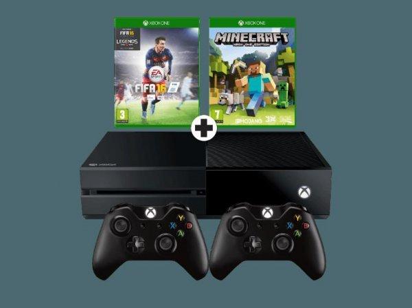 Mediamarkt.NL / für grenzgänger: MICROSOFT Xbox One + FIFA 16, Minecraft & 2ten Controller