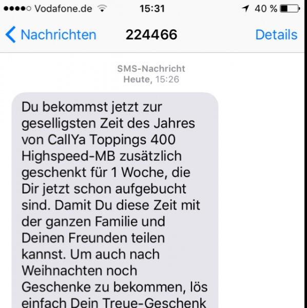 Vodafone verschenkt 400MB Datenvolumen