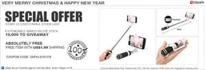Extendable Wired Selfie Sticks with US$1.99 Shipping@Zapals