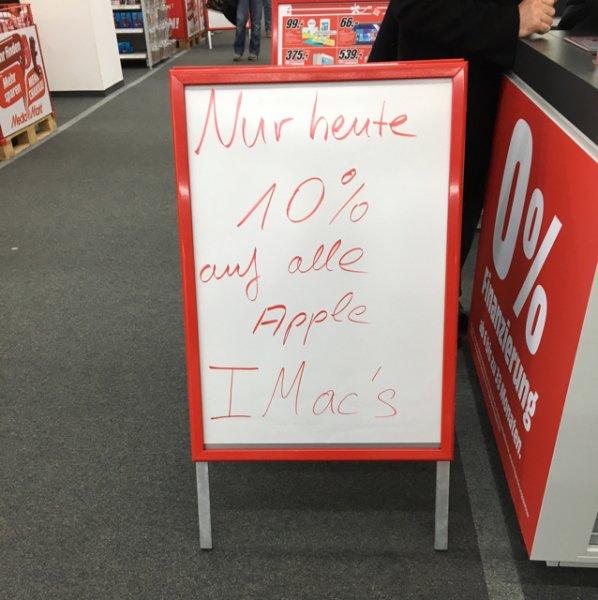 Lokal Media Markt Karlsruhe -10% auf iMacs