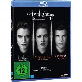 Twilight-Saga 1-3 Blu-ray VSK-frei@redcoon.de für 5,99 €