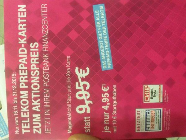 (PSN) Xtra Card mit 10 Euro Guthaben Postbank Finanzcenter