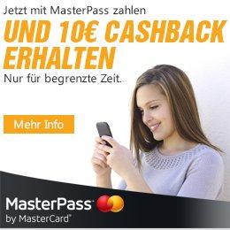 [aufladen.de] Mit Masterpass zahlen (MBW 15€) und 10€ Gutschein erhalten - auch Amazon
