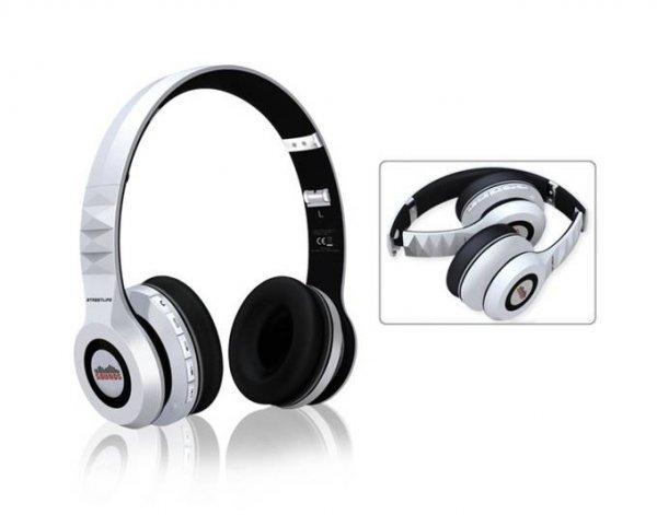 [Satchef] SOUNDS Streetlife Modell 2015 Premium, Bluetooth Stereo OnEar-Kopfhörer (Headset, MicroSD, Radio FM, Zipper-Bag), weiß oder schwarz