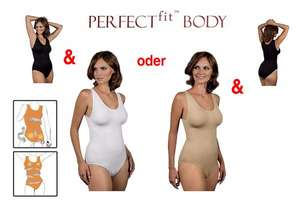 2er-Pack Body PERFECTfit in Schwarz und Beige @ Groupon