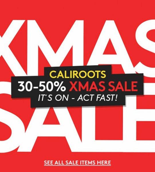 [caliroots.de] Xmas Sale 30-50% (Accessoires, Bekleidung & Schuhe)