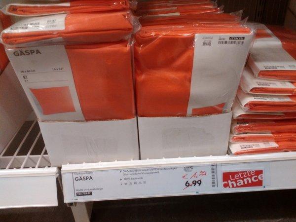 IKEA Regensburg: Bettwäsche bis zu 70% reduziert, z.B. Gäspa für 1,99€ statt 6,99€
