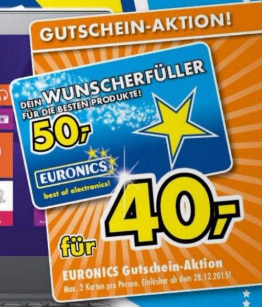 [Lokal, Euronics XXL] 50€ Gutschein für 40€ - am 28.12. offline