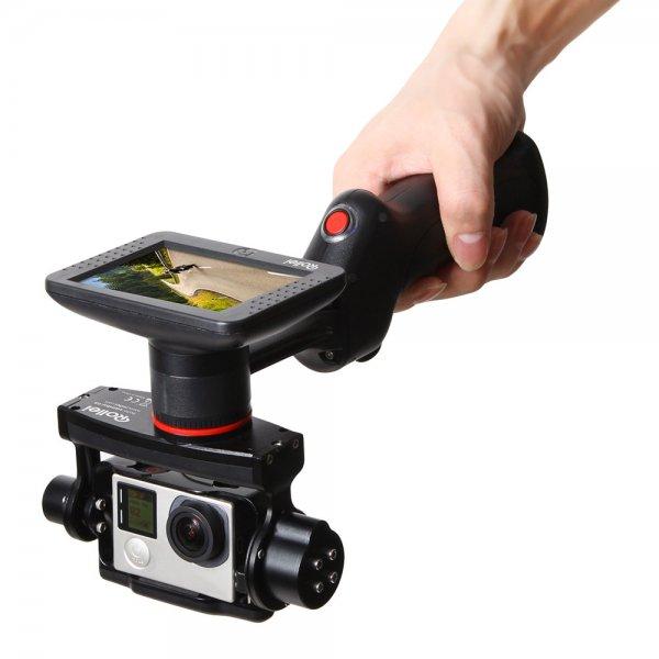 Rollei eGimbal G5 - Kamera-Stabilisator mit Display GoPro Hero 3, 3+ 4