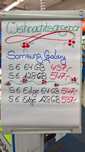 (Lokal Saturn Hamburg) Samsung S6/EDGE 32 für 399/479 / S6/EDGE 64/128 für 497 bis 597€