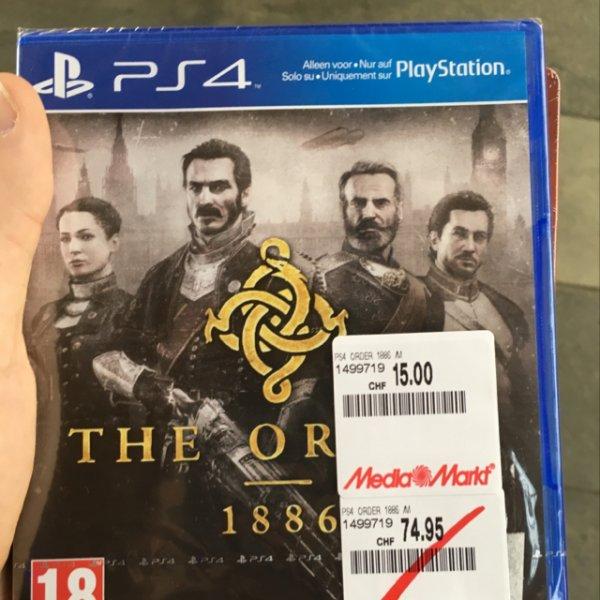 Für CH-Grenzgänger: PS4: The Order 15 CHF