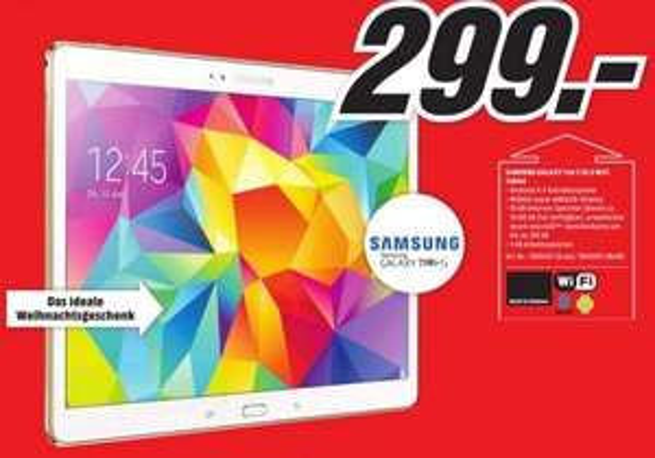 Samsung Galaxy Tab S 10.5 WIFI (Lokal-München) 299€ nur noch heute den 23.12