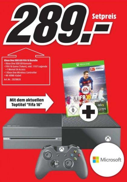 Xbox One 500GB + Fifa 16 (Lokal-München) 289€ nur noch heute den 23.12