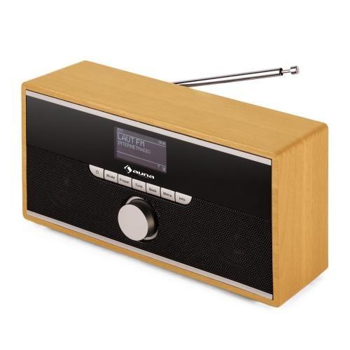ABGELAUFEN [Amazon.de] Auna Weimar Retro Internetradio Wlan Radio Radiowecker mit Bluetooth (DAB DAB+ Radiotuner, 2 Wecker, AUX, digital) eiche