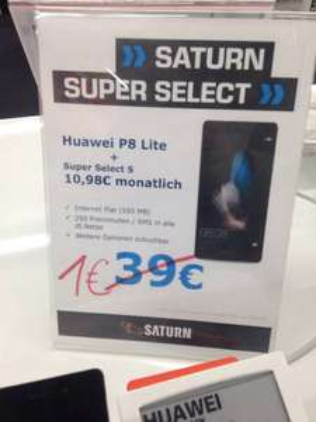 Huawei P8 Lite (Lokal-Saturn Berlin, Kurt-Schumacher-Platz)