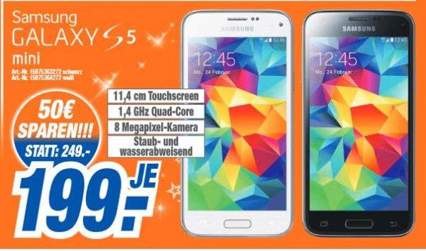 [lokal HEM Expert] Galaxy S5 Mini schwarz/weiß 199€