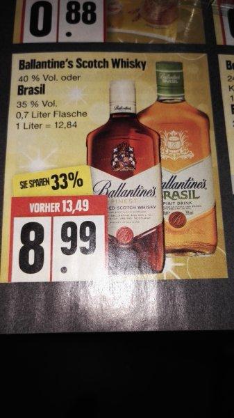 *EDEKA* Ballantine's Scotch Whisky 0,7 L für 8,99 statt 13,49