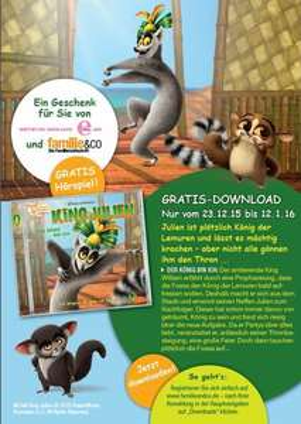 King Julien (aus Madagascar) Hörbuch Download gratis